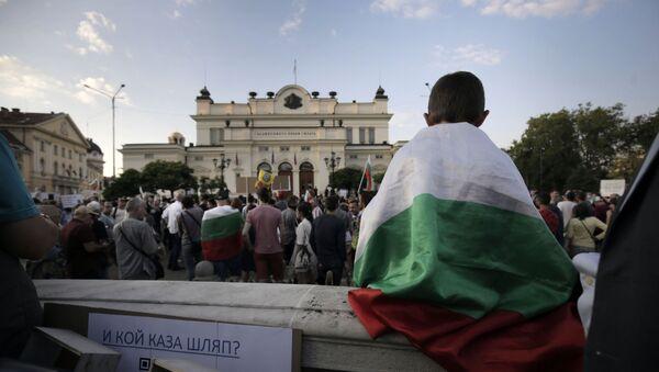 Протесты в Софии - Sputnik Беларусь