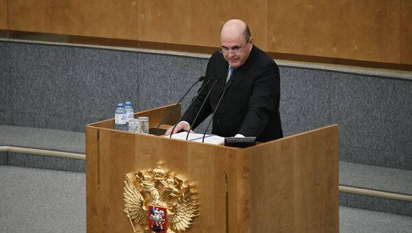 Мішусцін выступіў у Дзярждуме з першай справаздачай урада - Sputnik Беларусь
