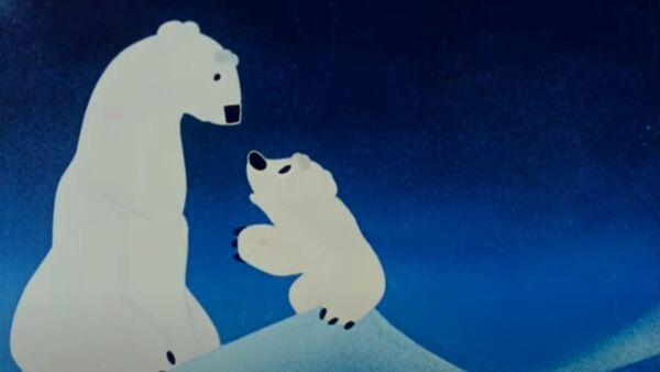 Кадр из мультфильма В город на елку про медвежонка Умку - Sputnik Беларусь