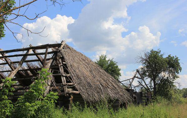 К сожалению, жителей в полесских деревнях становится все меньше – уникальное наследие разрушается и уходит под землю прямо на глазах - Sputnik Беларусь