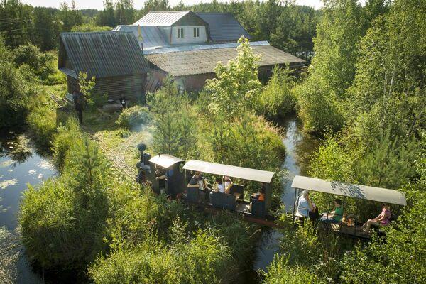 Чилину понадобилось более 10 лет, чтобы построить 350-метровую миниатюрную узкоколейку с различными ответвлениями, тупиками и даже тремя мостами - Sputnik Беларусь