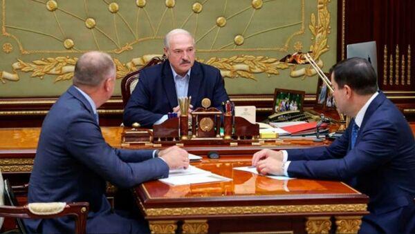 Совещание у президента Беларуси Александра Лукашенко по задержанным россиянам - Sputnik Беларусь