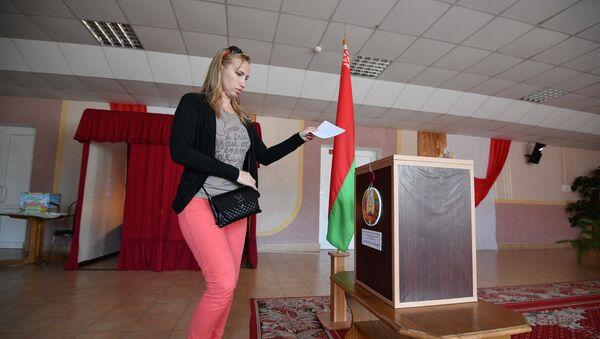 Датэрміновае галасаванне на выбарах прэзідэнта 2020 у Гомельскай вобласці - Sputnik Беларусь