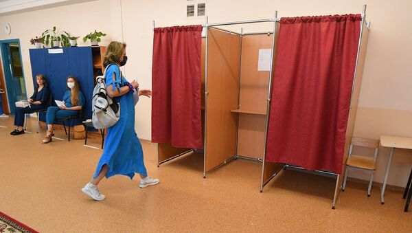Голосование на выборах президента 2020 в Минске - Sputnik Беларусь