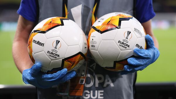Официальные мячи футбольной Лиги Европы - Sputnik Беларусь