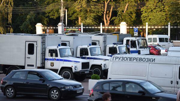 Машины милиции в Гомеле - Sputnik Беларусь