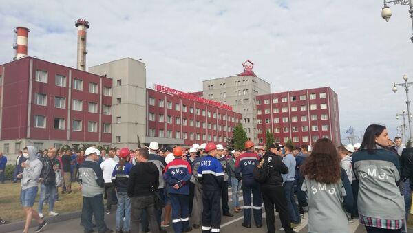 Работники БМЗ вышли на акцию протеста - Sputnik Беларусь