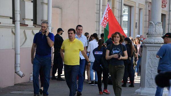 Участники митинга - Sputnik Беларусь