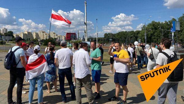 Участники акции протеста - Sputnik Беларусь