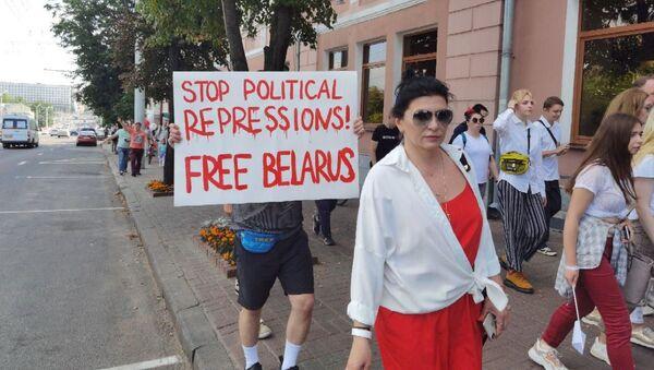 Во время акции протеста в Витебске 16 августа - Sputnik Беларусь