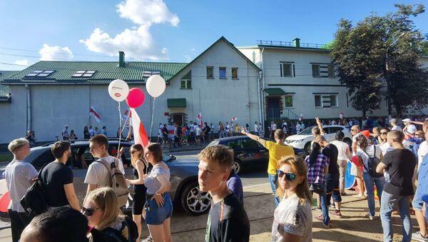Жители Витебска возле городского СИЗО - Sputnik Беларусь
