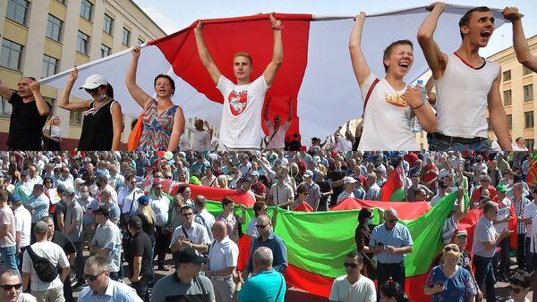 Пратэст па-беларуску: як у адзін дзень прайшлі дзве розныя акцыі - відэа - Sputnik Беларусь