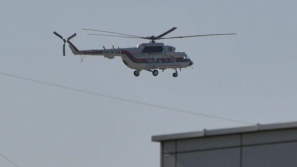 Вертолет Александра Лукашенко над МЗКТ - Sputnik Беларусь