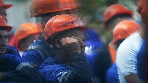 Забастовка на Гродно Азот 19 августа - Sputnik Беларусь