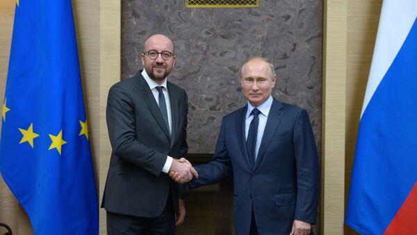 Президент РФ В. Путин встретился с премьер-министром Бельгии Ш. Мишелем - Sputnik Беларусь