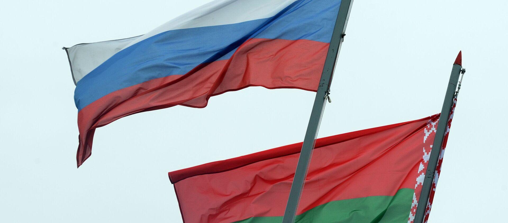Флаги России и Беларуси - Sputnik Беларусь, 1920, 02.04.2021