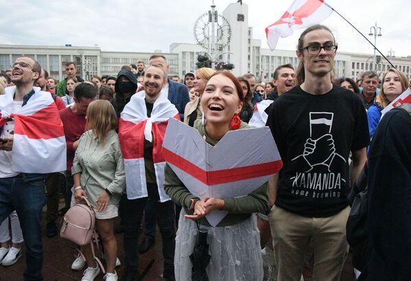 Мітынг апазіцыі ў Мінску 25 жніўня - Sputnik Беларусь