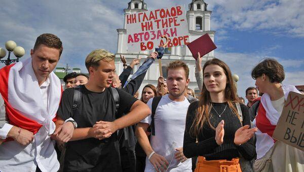 Студенческие протесты в Минске длились больше пяти часов - видео - Sputnik Беларусь