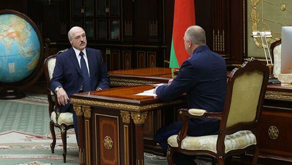 Президент Беларуси Александр Лукашенко принял с докладом председателя Следственного комитета Ивана Носкевича - Sputnik Беларусь
