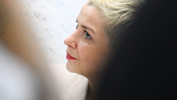Координатор штаба Виктора Бабарико Мария Колесникова на пресс-конференции - Sputnik Беларусь