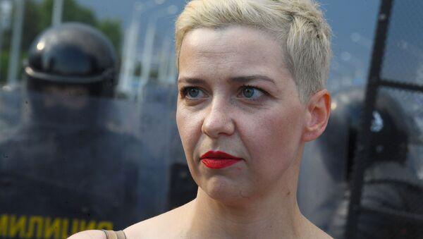 Мария Колесникова во время акции протеста - Sputnik Беларусь
