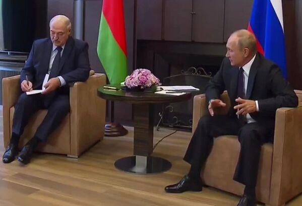 Первая встреча с Владимиром Путиным после августовских событий, Сочи, 14 сентября 2020 года. - Sputnik Беларусь