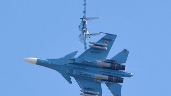 Знішчальнікі Су-30 беларускіх ВПС - Sputnik Беларусь