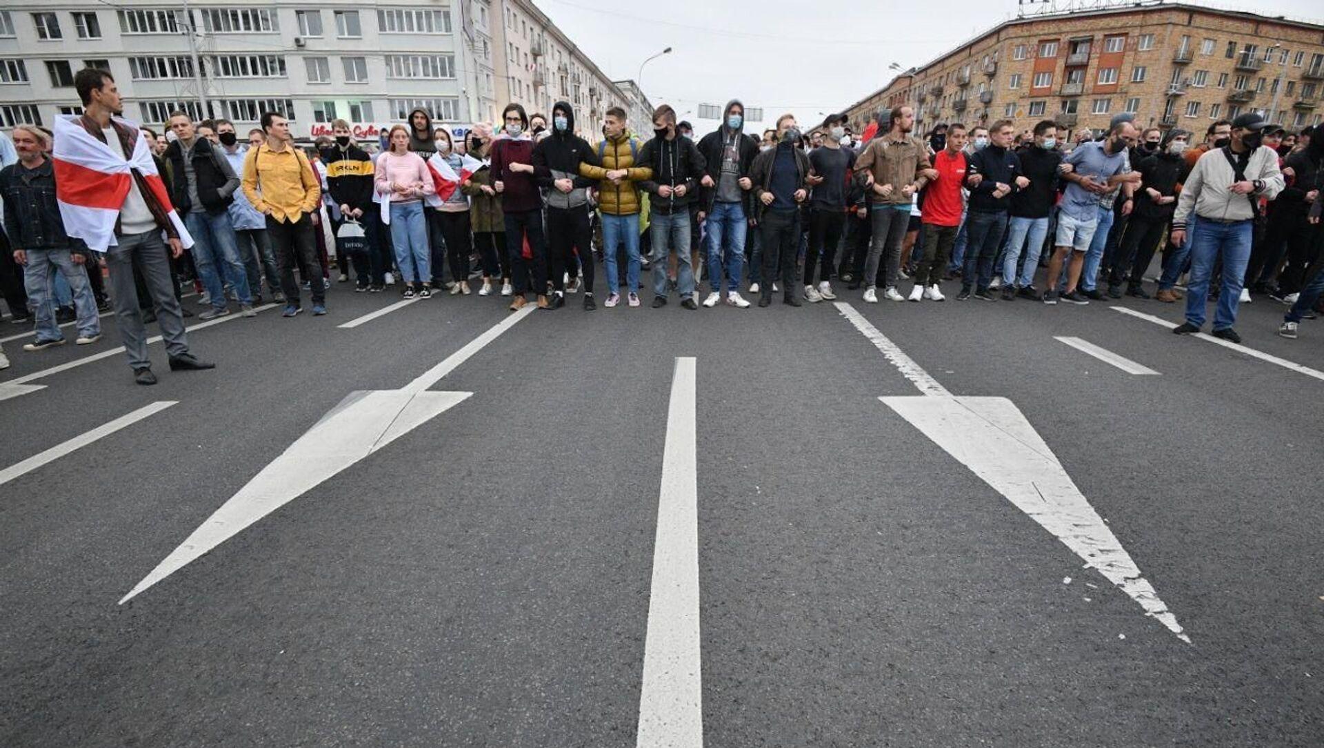 Акция протеста прошла в воскресенье в Минске - Sputnik Беларусь, 1920, 21.04.2021