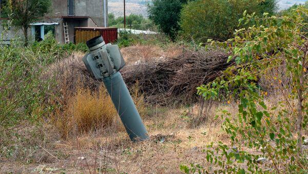 Реактивный снаряд системы Смерч на территории общины Иванян Нагорного Карабаха - Sputnik Беларусь