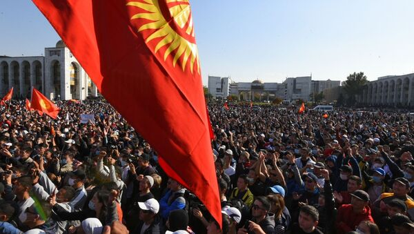 Акция протеста в Бишкеке - Sputnik Беларусь