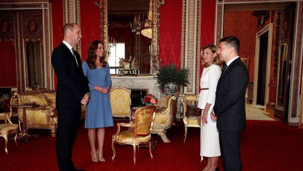Британский принц Уильям и Кейт, герцогиня Кембриджская, встретились с президентом Украины Владимиром Зеленским и его супругой Еленой - Sputnik Беларусь