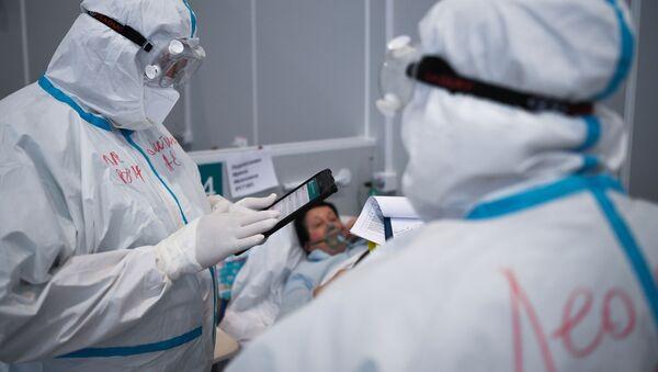 Госпиталь COVID-19 в Сокольниках  - Sputnik Беларусь