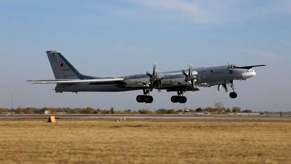 Экіпажы Ту-160 і Ту-95МС правялі кантрольныя палёты - відэа - Sputnik Беларусь