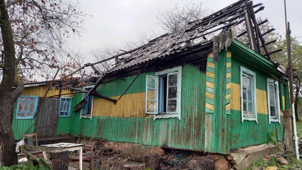 Сгоревший дом командира минского ОМОН Балабы в Городилово - Sputnik Беларусь
