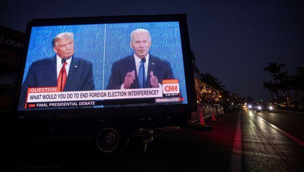 Финальные дебаты Джо Байдена и Дональда Трампа накануне президентских выборов в США - Sputnik Беларусь