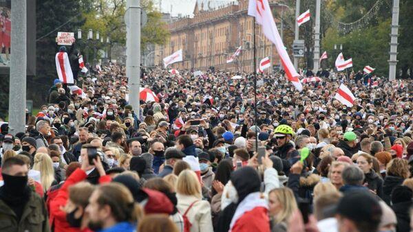 Акция протеста в Минске 25 октября - Sputnik Беларусь