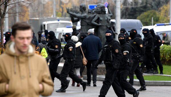 На акции протеста в Минске 8 ноября 2020 года - Sputnik Беларусь