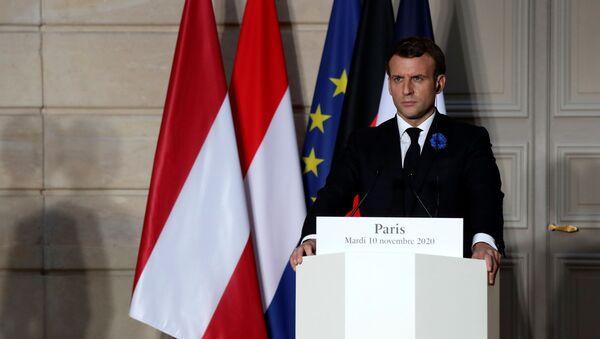 Президент Франции Эммануэль Макрон - Sputnik Беларусь