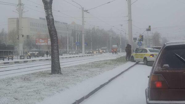Авария на Московском проспекте в Витебске - Sputnik Беларусь