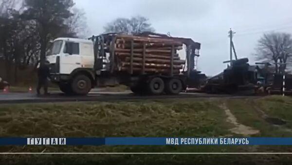 ДТП под Могилевом - из прицепа вылетели дрова и убили велосипедиста, видео - Sputnik Беларусь