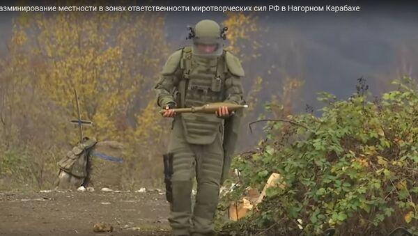 Как работают саперы: видео разминирования местности в Карабахе - Sputnik Беларусь