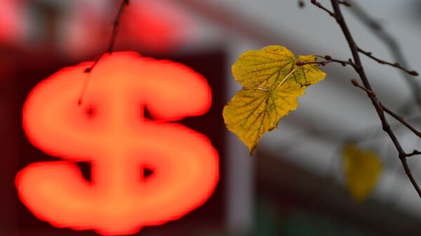 Электронное табло со знаком доллара - Sputnik Беларусь