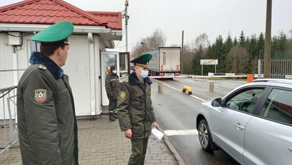 На беларускай мяжы - Sputnik Беларусь