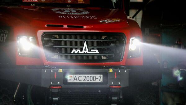 Камионы МАЗ-СПОРТавто перед отправкой на Дакар-2021 - Sputnik Беларусь