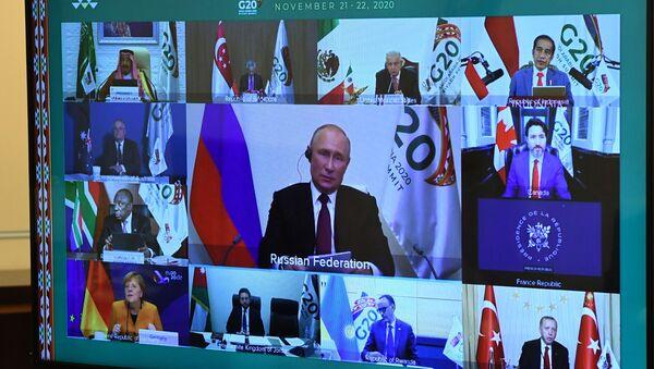 21 ноября 2020. Участники саммита Группы двадцати в режиме видеоконференции - Sputnik Беларусь