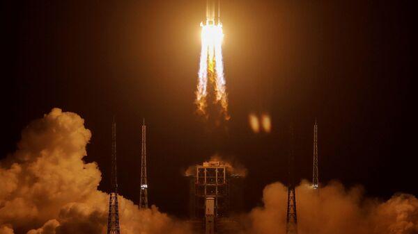 Пуск ракеты с китайским  зондом - Sputnik Беларусь