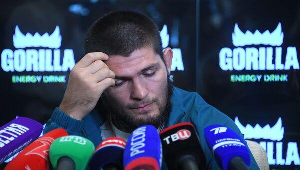Российский чемпион UFC в лёгком весе Хабиб Нурмагомедов  - Sputnik Беларусь