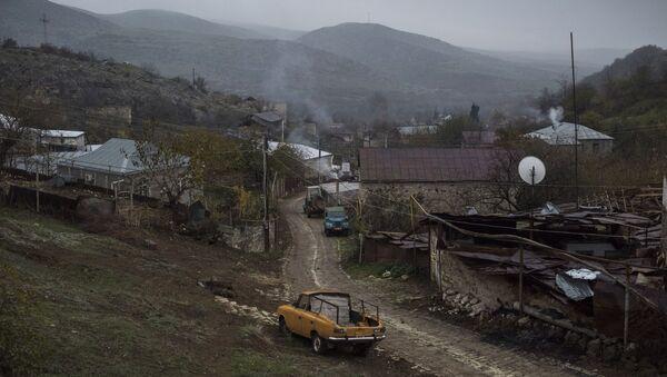 Вид на дома в селе Мачкалашен Мартунинского района в Нагорном Карабахе - Sputnik Беларусь