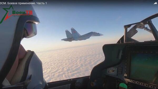 Беларускія лётчыкі на Су-30СМ упершыню ўжылі ракеты паветра-паветра - Sputnik Беларусь