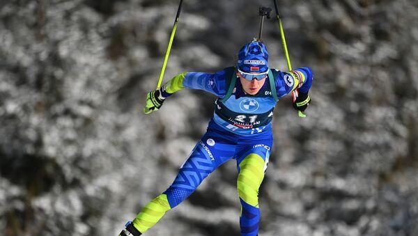 Белорусская биатлонистка Динара Алимбекова - Sputnik Беларусь